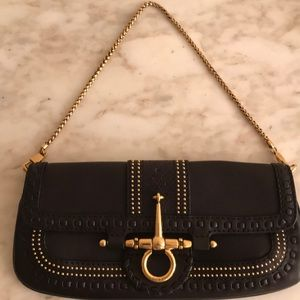 Gucci Snaffle Bit Convertible  Leather Clutch